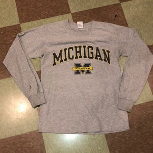 University of Michigan wolverines LS T-shirt sm